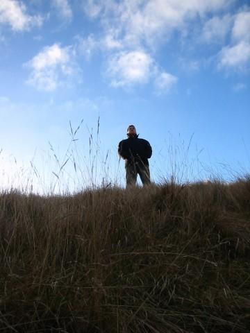 My mate Al on the edge of Cleeve Hill near Cheltenham. An amazingly cold day!