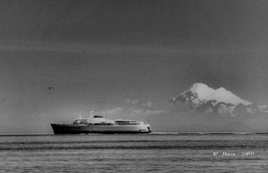 mountain ship ferry water bw blackandwhite tonemapping