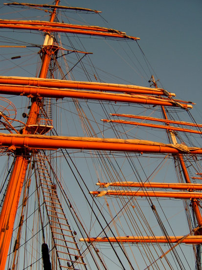 sailing ship mast sail Sedov sea ships rigging