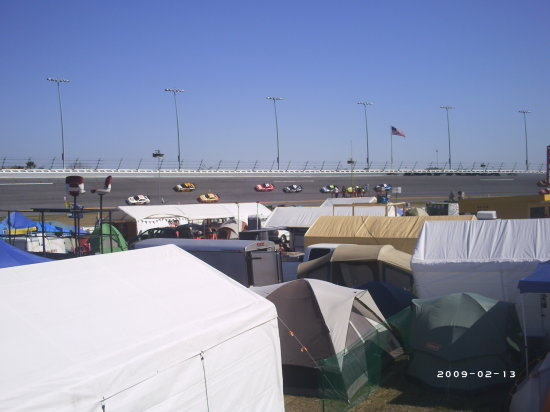 daytona tent city 2007 orange lot infield