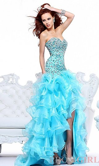 high low prom dress beaded evening dress bridal gowns