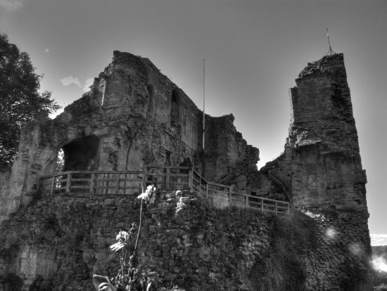 knaresborough castle hdr blackandwhite yorkshire historic ruin derelict