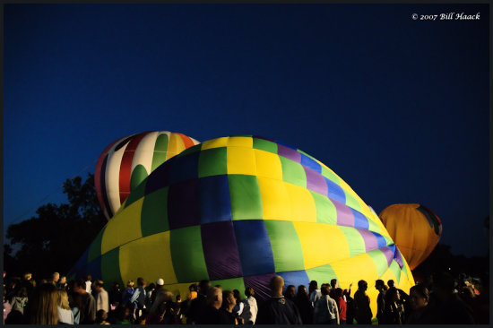 stlouis missouri us usa event balloon glow flame hotair 2007