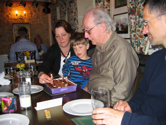 Family Pub Lunch Dad Birthday Treat Spring 2010 Cotswolds Pastoral