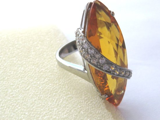 Citrine silver ring crimeajewel _commercial