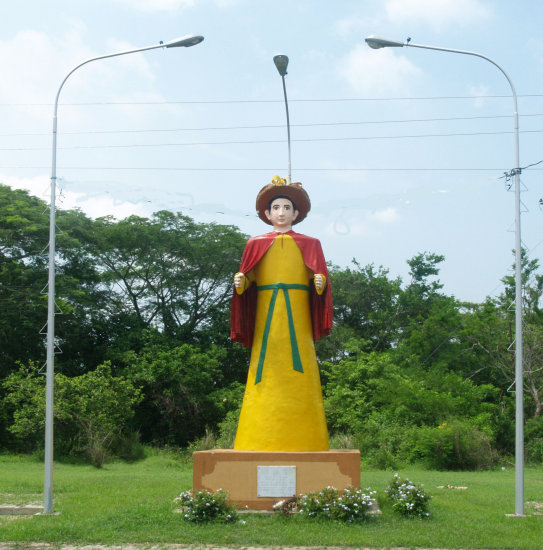 UNKNOWN SCULPTURE ALONG THE ROAD BARQUISIMETO-MORON