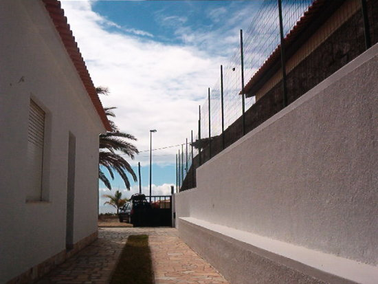 PortoSanto island Madeira Portugal 2007 holiday house yard entrance
