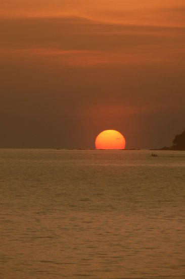 sequence sunset sun sea kota kinabalu