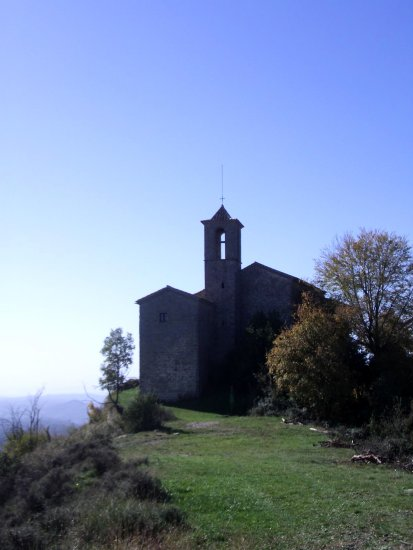 church catalonia nature scenary mountain