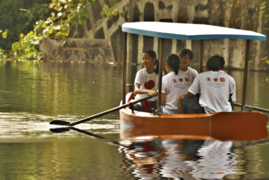 Eco Park pond reflection Philippines boating