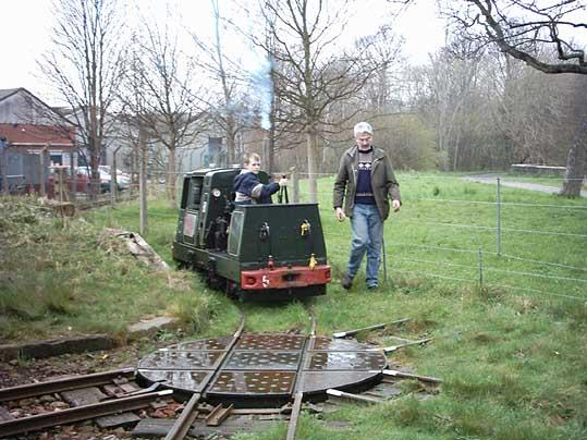 I took the diesel engine to the buffers and then I reversed it back again. The man said I can go...