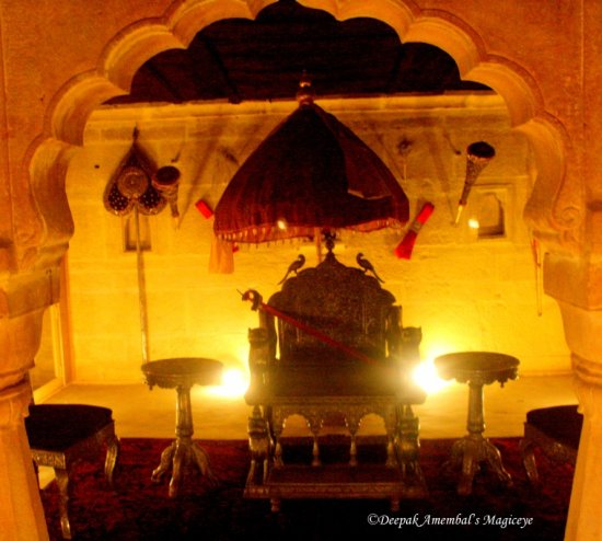 Golden throne in Jaisalmer palace