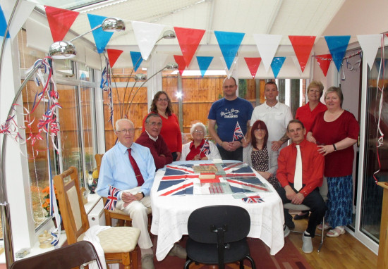 3. Family together to celebrate the Queen's Diamond Jubilee