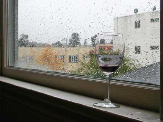 rain window winter december homefph wine wineglass