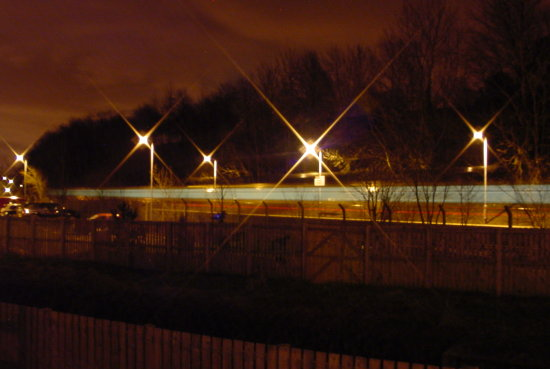Train passing in the night.................................