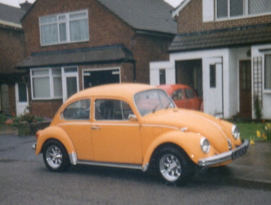 VWbeetle vwbug vw car orange bug beetle