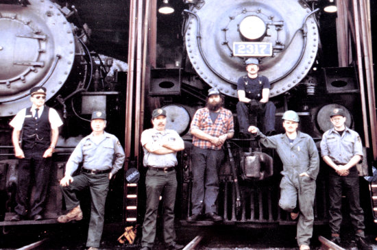 steamtown scranton pennsylvania railroad train locomotive crew photo
