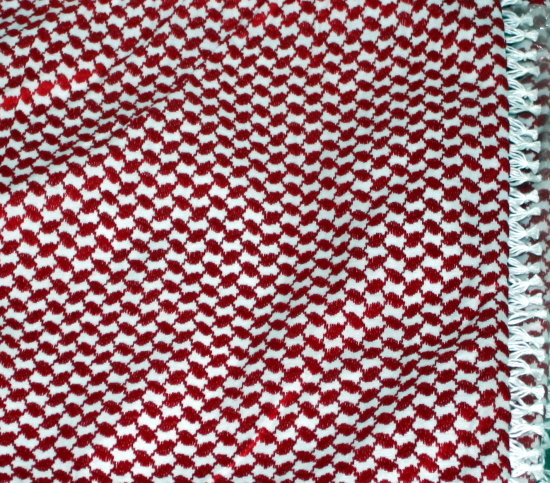 head cover red white pattern