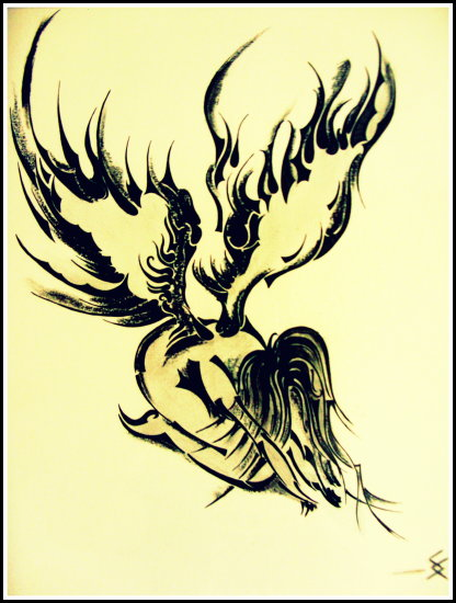 angel drawing yellow black woman wings