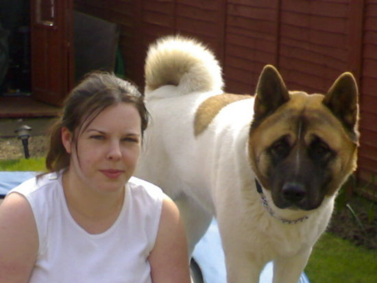 asia the akita and natalie her mam