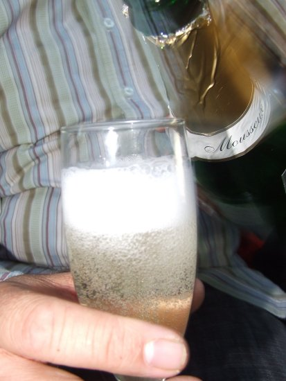 champagne hand glass bubbly celebrate party stripes