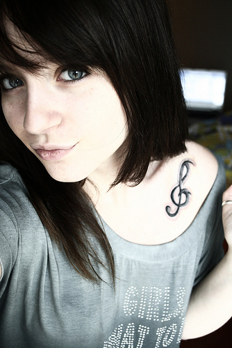 Treble Bass Clef Tattoo by ~neon-giraffe on deviantART. Most Clef Tattoos