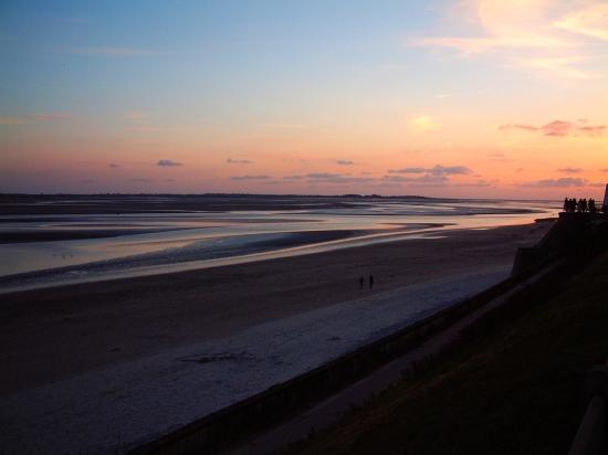 sunset Somme beach