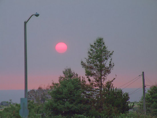 Smoky Sunset, II, July 9, 2008