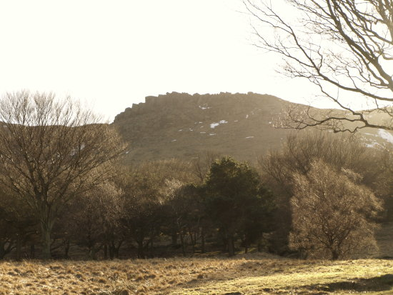 Not a great photo, but this hill is known as Indian's Head locally because it is thought to resem...