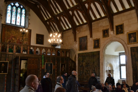 10. Berkeley Castle - the main hall where the tiny jester, whose party piece was rolling himself ...