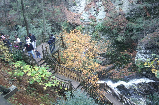 Walkway Bushkill Falls Delaware Water Gap PA October 2007