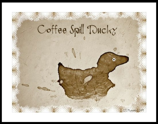 coffee duck spill shape splash