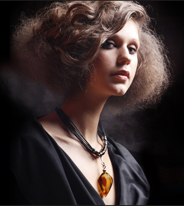 glamour fashion hair jewellery art nouveau woman lady necklace