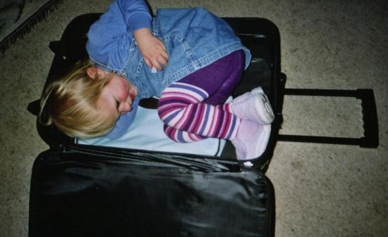 Abbey in suitcase
