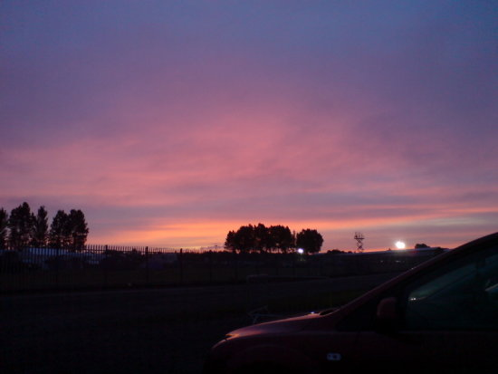 "Donington Park 04.57. "" Red sky in the morning, shepherds warning"" Of course it rained and it was..."