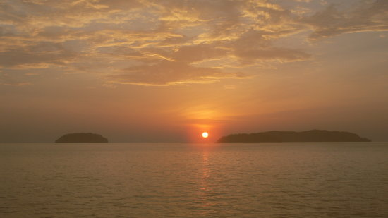 sequence sunset sun islands sea kota kinabalu