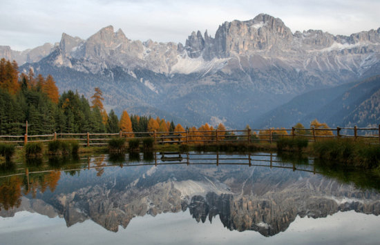 mountain dolomites alps scenery landscape nature autumn