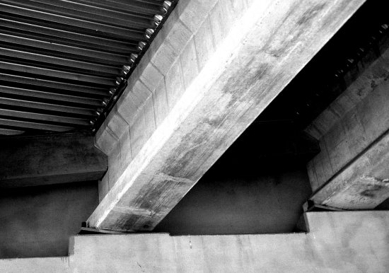 bridge overpass blackandwhite highway