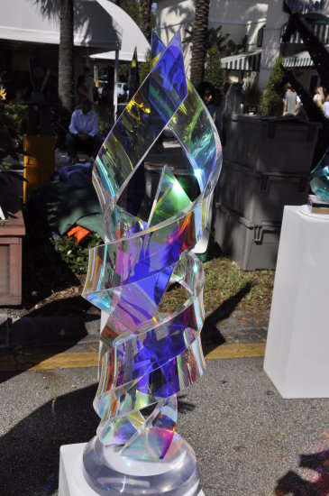ftlauderdale florida las olas art fair glass sculpture