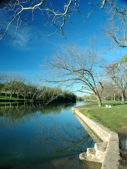 San Gabriel River: early Spring