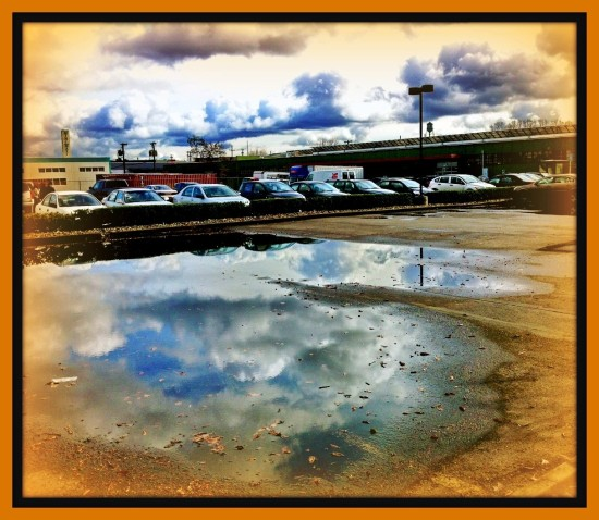 reflectionthursday portlandoregon parkinglot