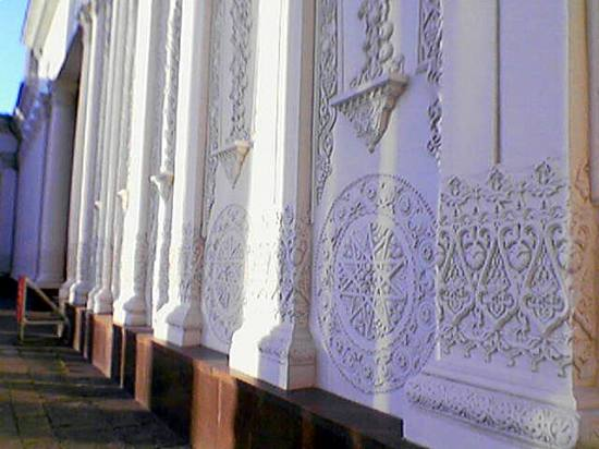 middleasian park oriental architecture uzbekistan russia moscow wall shade ivory