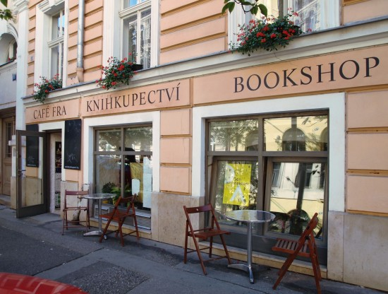 shop book street Prague Bohemia