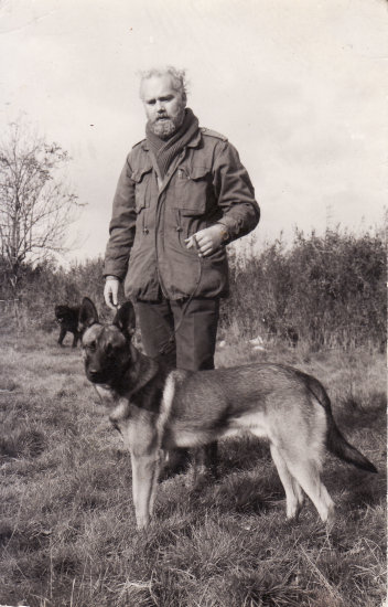 Thats me with Rex the belgian shepherd in the seventies policedog