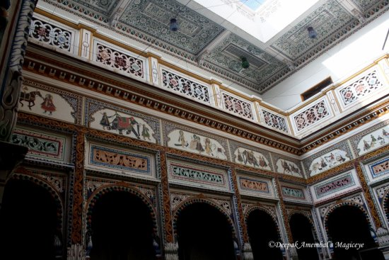 view up centre court hotel heritage mandawa rajasthan india