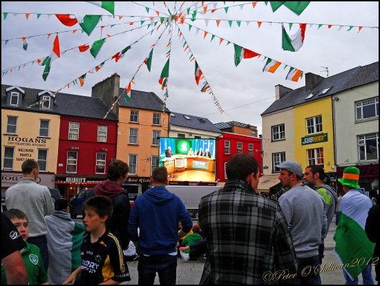 Euro 2012 Ireland Croatia The Square Tralee Kerry Ireland