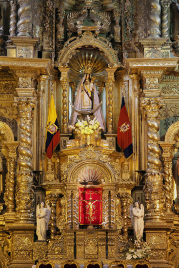 Quito Ecuador Churches Statues tourism