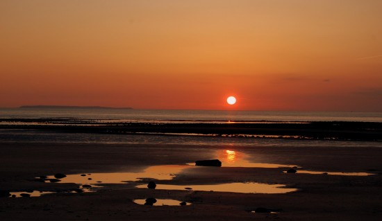 westward ho sunset lundy island