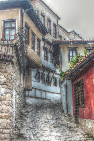 plovdiv bulgaria old part petzka home town HDR