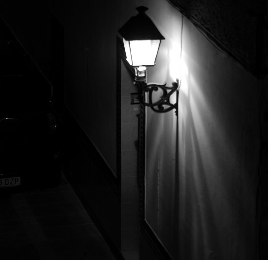 black white blanco negro light lamp night fotos photos alora espaa calle